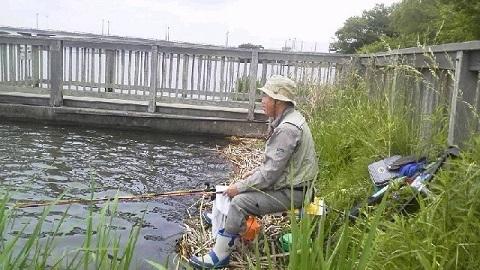 手賀沼カッパで釣っているのは