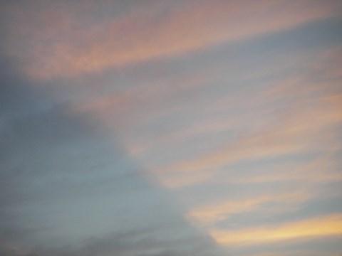 不安定な天気と空