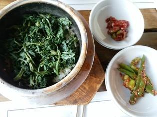 韓国、山菜釜飯