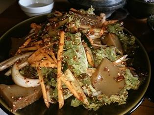 韓、古民家レストランの定食、ドトリムック