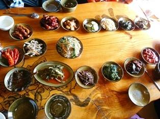 料理韓4、古民家レストラン定食小皿