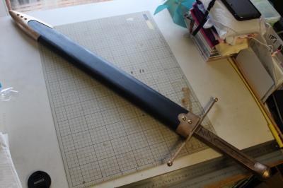 N様 ドラゴンクエストⅥ 雷鳴の剣(非金属製)完成!&木製鞘ほぼ完成1