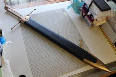 N様 ドラゴンクエストⅥ 雷鳴の剣(非金属製)完成!&木製鞘ほぼ完成2