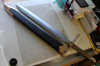 N様 ドラゴンクエストⅥ 雷鳴の剣(非金属製)完成!&木製鞘ほぼ完成3