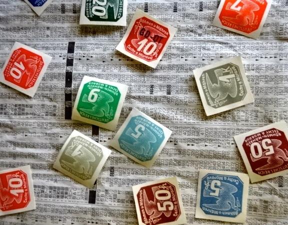 鳩の新聞切手
