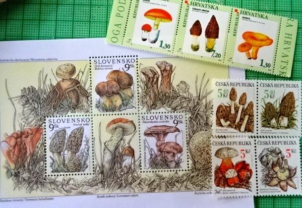 秋のきのこ切手