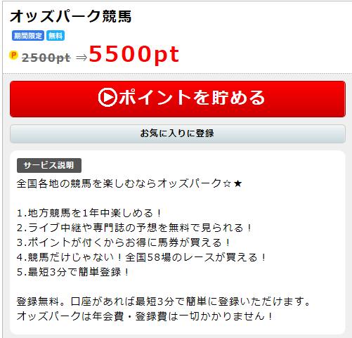 】オッズパーク競馬の無料会員登録で550円稼ぐ