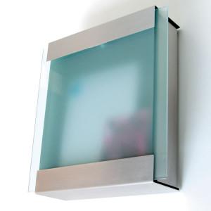 ガラスとステンレスのオシャレな郵便ポスト カイルバッハ glasnostglas420 グラスノストグラス
