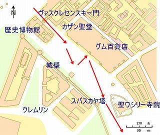 赤の広場MAP
