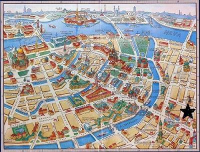 サンクトの地図