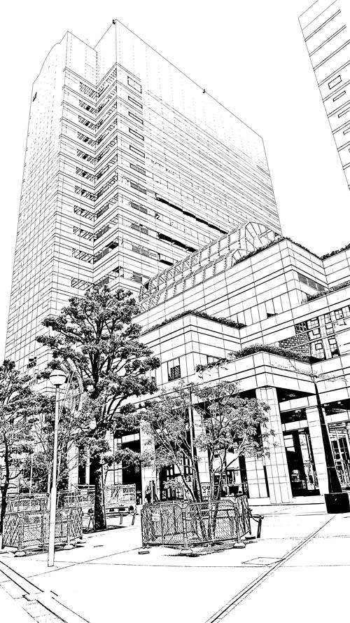 写真加工・漫画背景・新宿