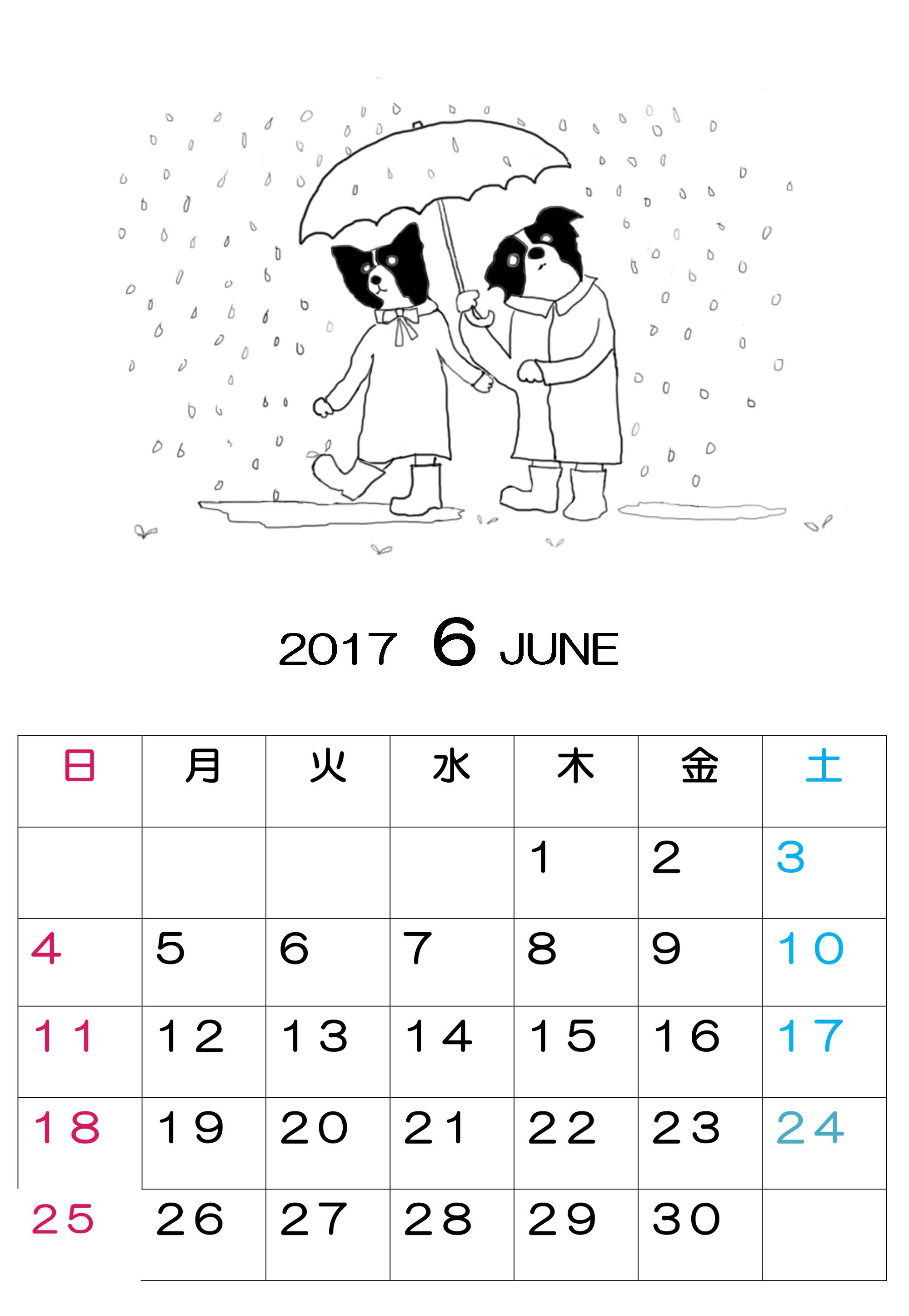 2017-6カレンダー