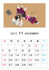 2017年11月カレンダーs