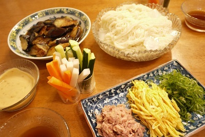2017年6月 お素麺の食卓