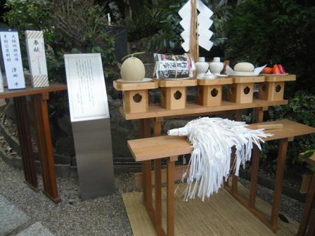 10 慰霊祭の祭壇