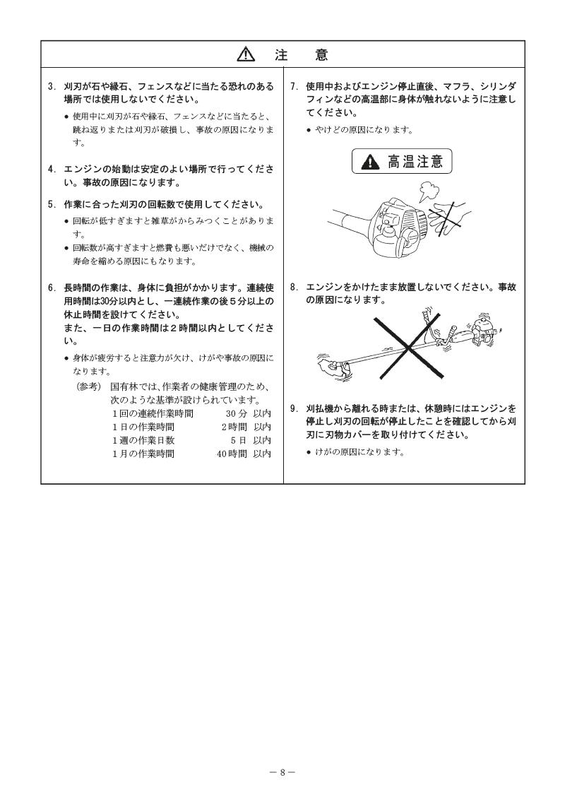 エンジン刈払機 MAKITA MEM302T マニュアル-08
