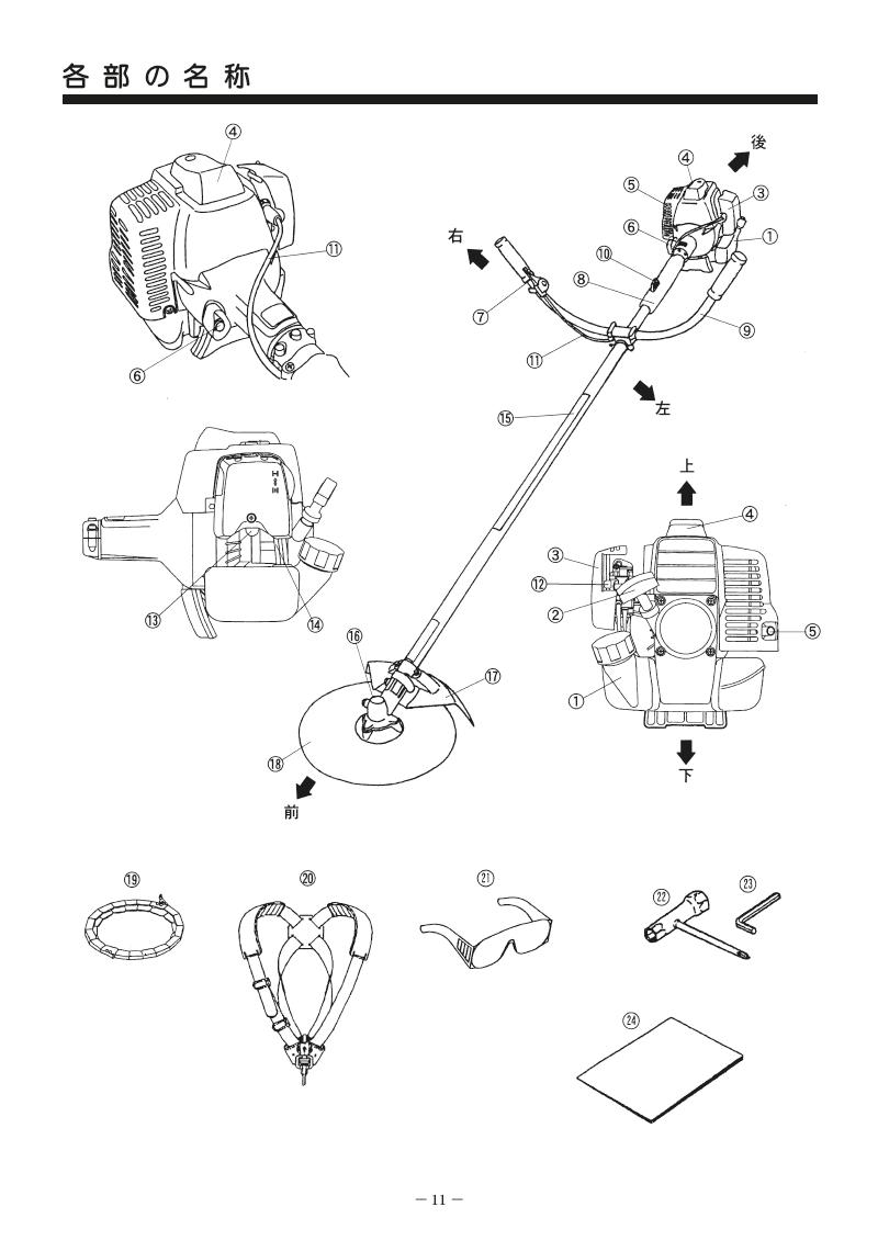 エンジン刈払機 MAKITA MEM302T マニュアル-11