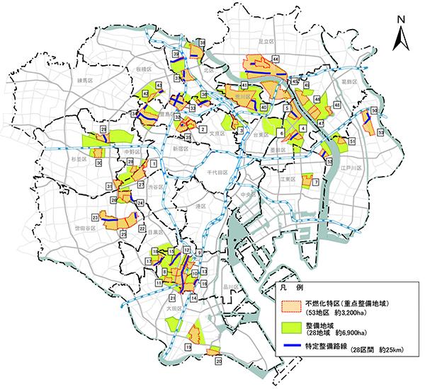 不燃化特区地区位置図