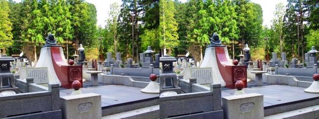 奥之院裏参道④ 福助 企業墓(平行法)
