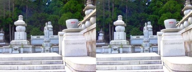奥之院裏参道① UCC上島珈琲 企業墓(平行法)