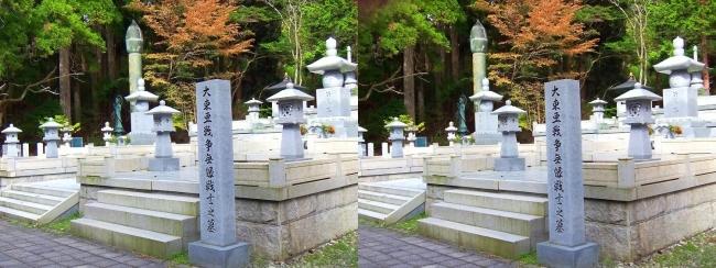 奥之院参道㉖ 大東亜戦争無縁戦士之墓(交差法)