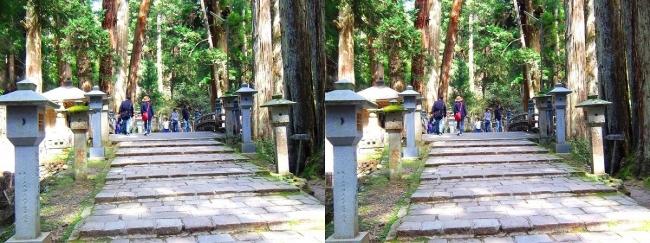 奥之院参道⑬ 中の橋(交差法)
