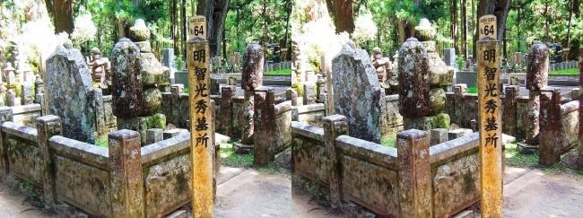奥之院参道⑩ 明智光秀 墓所(交差法)