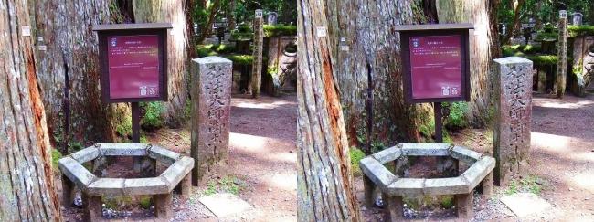 奥之院参道⑧ 弘法大師の腰掛け石(平行法)