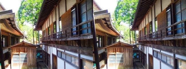 金剛峯寺 参拝者玄関建物二階の修行者住居(平行法)