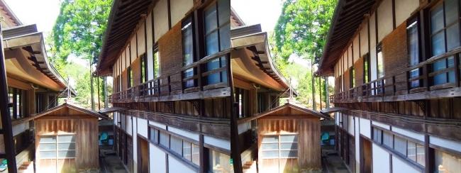 金剛峯寺 参拝者玄関建物二階の修行者住居(交差法)