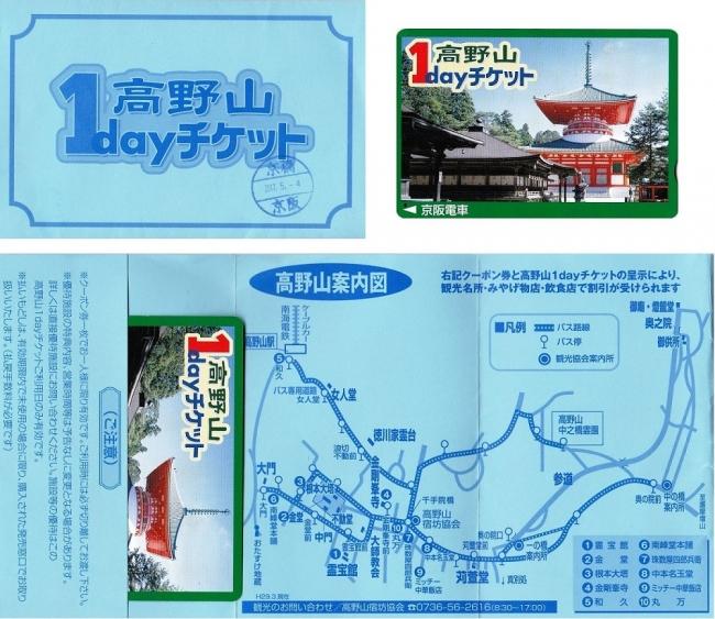 京阪電車 「高野山1dayチケット」