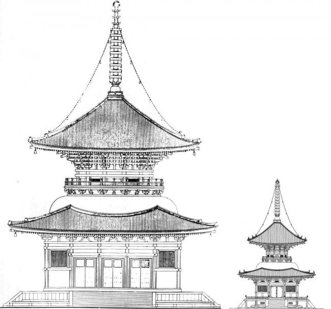 根本大塔 浄土寺多宝塔 比較