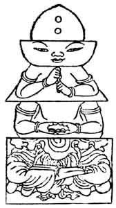 五輪九字明秘密釈の五輪塔図