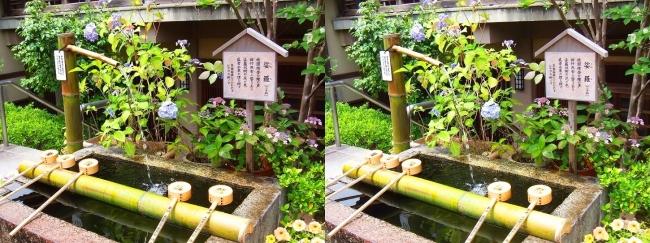 矢田寺 大門坊 手水鉢(平行法)
