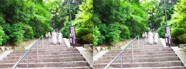 矢田寺 石段②(平行法)