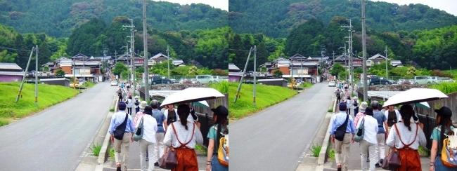 矢田寺に向かう道(交差法)