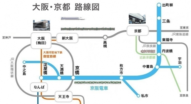 大阪・京都 路線図