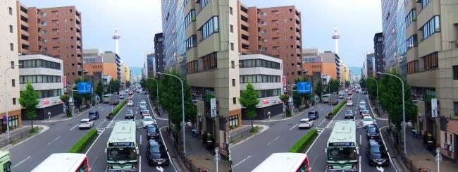 京都 塩小路通①(交差法)