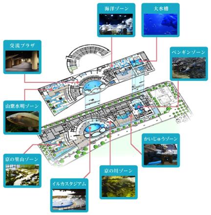 京都水族館 京の川から大海原を再現する9つのゾーン構成