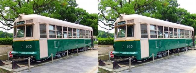 梅小路公園 京都市電935号①(平行法)