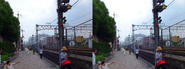 京都駅から線路沿通り(平行法)