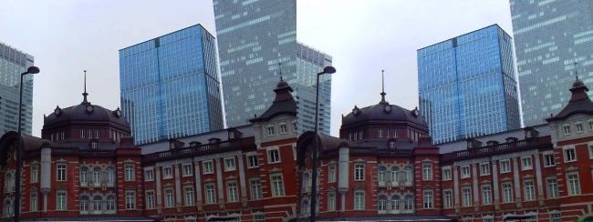 東京駅舎③(平行法)