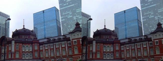 東京駅舎③(交差法)