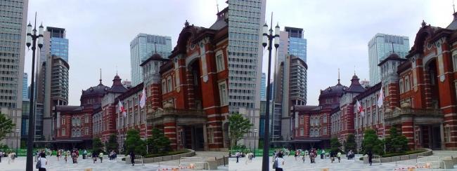東京駅舎①(平行法)