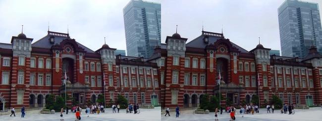 東京駅舎②(交差法)