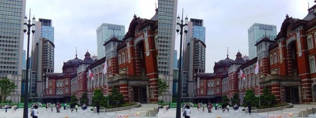 東京駅舎①(交差法)