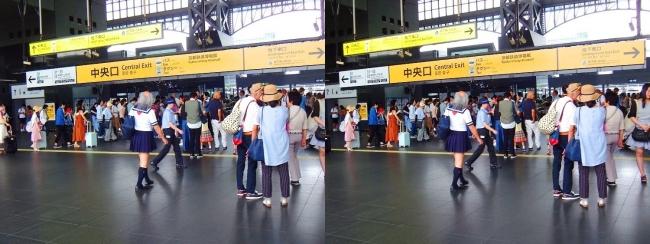 JR京都駅②(交差法)