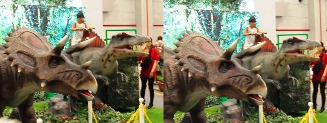 メガ恐竜展2017 恐竜アトラクションコーナー④(平行法)