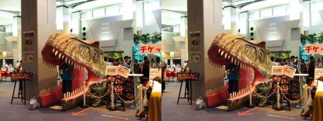 メガ恐竜展2017 恐竜アトラクションコーナー①(平行法)
