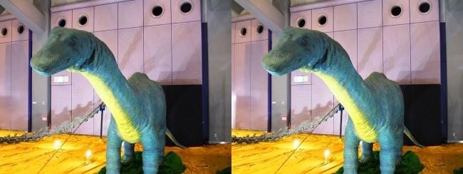メガ恐竜展2017 ZONE4 アパトサウルス幼体生体復元ロボット(平行法)